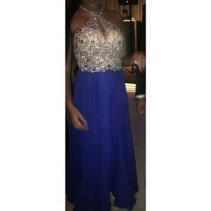 Camille La Vie Dresses Royal Blue Silver Prom Dress Poshmark